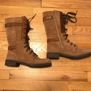 The North Face brown suede boots